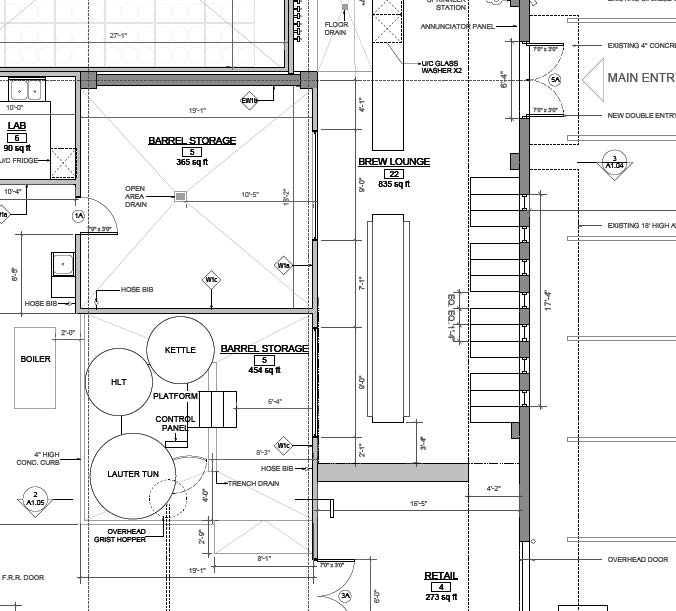 Brewery layout i 39 m starting a craft brewery for Brewery floor plan